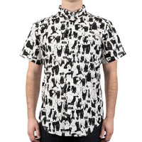 Short Sleeve Easy Shirt - Funny Cats- front shot