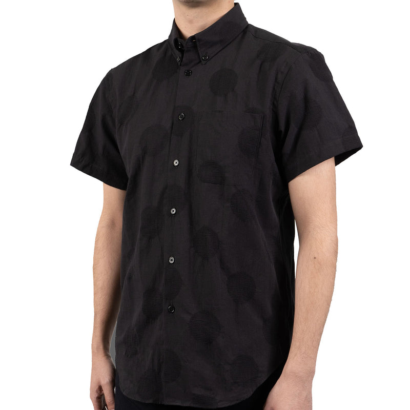 Short Sleeve Easy Shirt - Circle Dobby - side shot