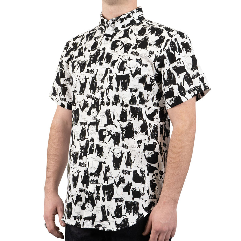 Short Sleeve Easy Shirt - Funny Cats - side shot