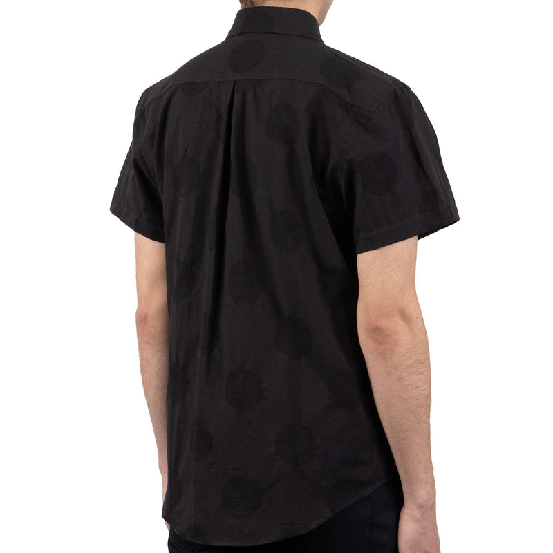 Short Sleeve Easy Shirt - Circle Dobby - back shot