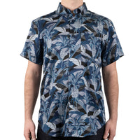 Short Sleeve Easy Shirt - Jungle Vacation - Blue - front shot
