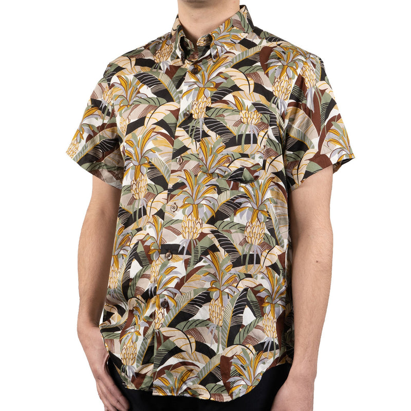Short Sleeve Easy Shirt - Jungle Vacation - Brown / Green - side shot