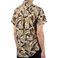 Short Sleeve Easy Shirt - Jungle Vacation - Brown / Green - back shot