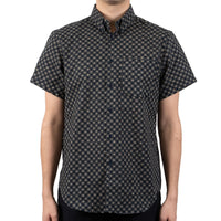 Short Sleeve Easy Shirt - Kimono Circles - front shot