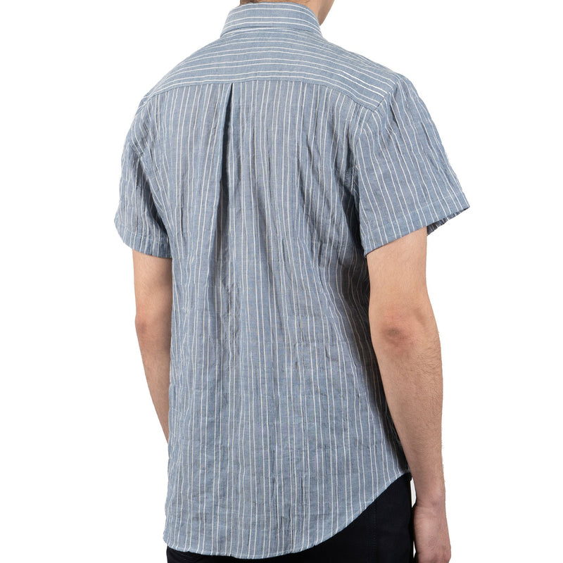 Short Sleeve Easy Shirt - Standard Stripes - Indigo