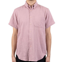 Short Sleeve Easy Shirt - Double Weave Gauze - Blush - front shot