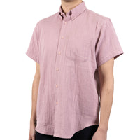 Short Sleeve Easy Shirt - Double Weave Gauze - Blush - side shot