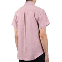 Short Sleeve Easy Shirt - Double Weave Gauze - Blush - back shot