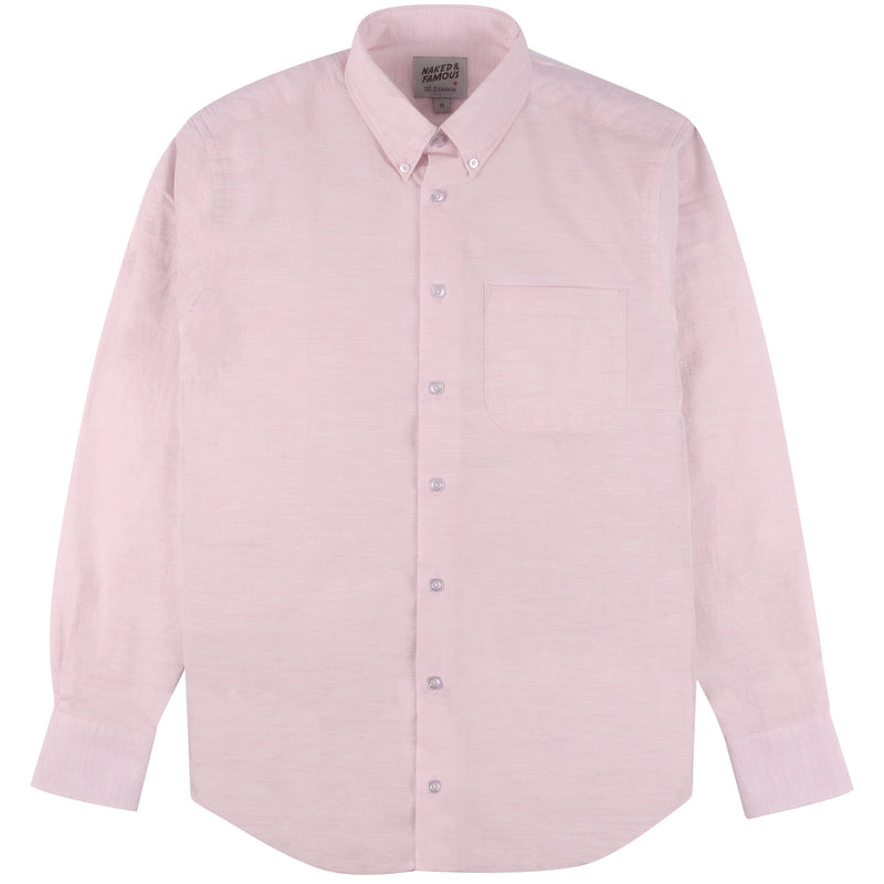Easy Shirt - Heather Gauze - Pink | Naked & Famous Denim