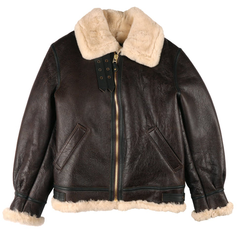 Schott - Classic B-3 Sheepskin Leather Bomber Jacket