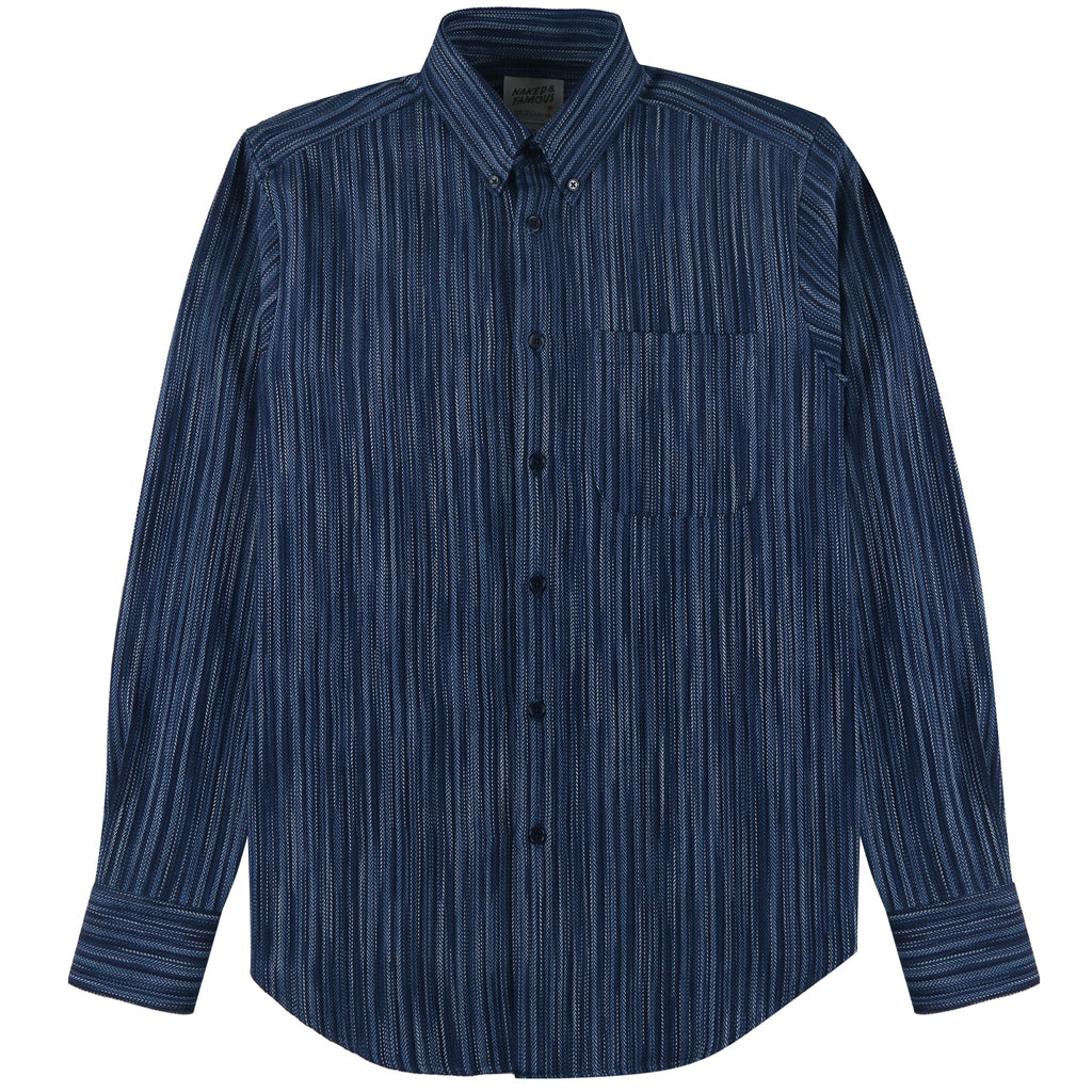 Easy Shirt - Indigo Stripes | Naked & Famous Denim