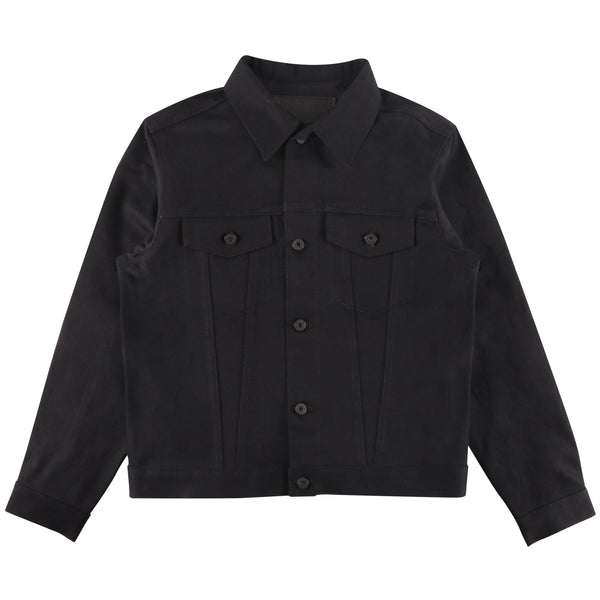 Denim Jacket - Solid Black Selvedge | Naked & Famous Denim