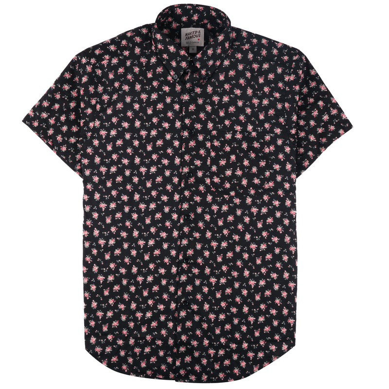 Short Sleeve Easy Shirt - Flower Print | Naked & Famous Denim
