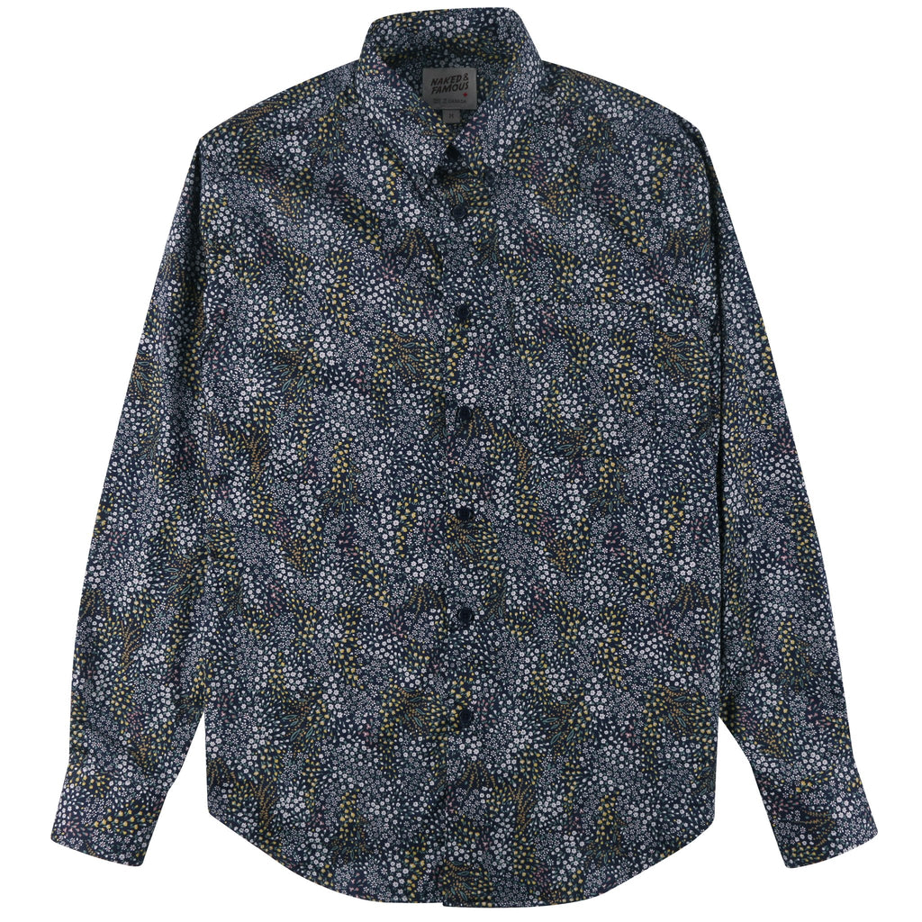 Easy Shirt - Allover Flowers - Navy