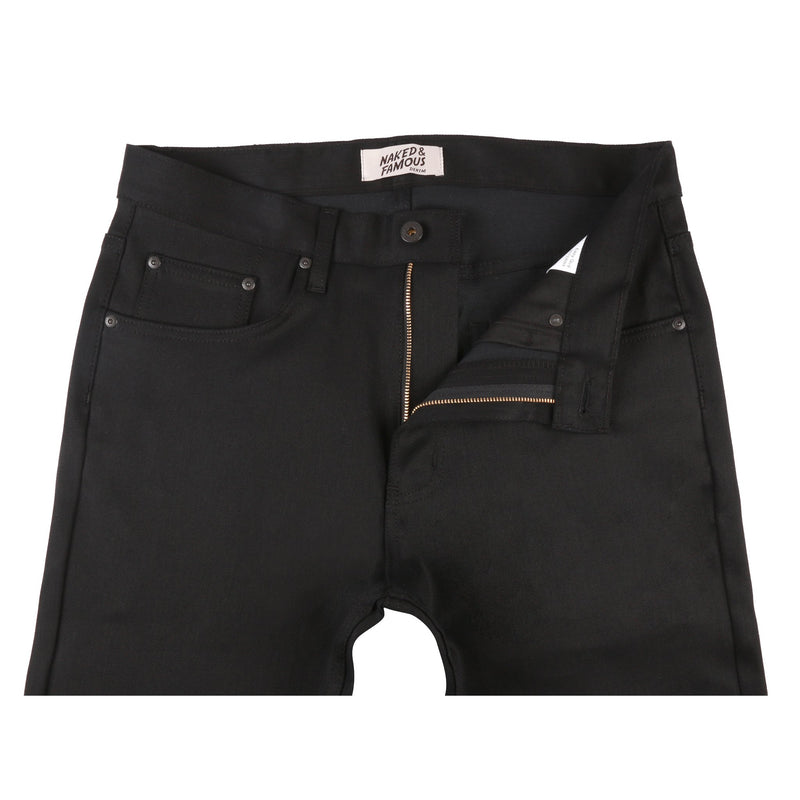 Easy Guy - Black Bi Stretch Denim | Naked & Famous Denim