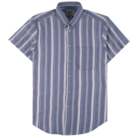 Short Sleeve Easy Shirt - Bouclé Stripe | Naked & Famous Denim
