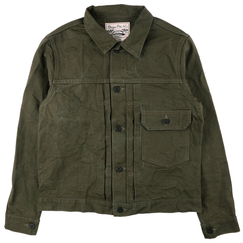 Type 1 Olive Heavy Duck Jacket 1928 by Burgus Plus