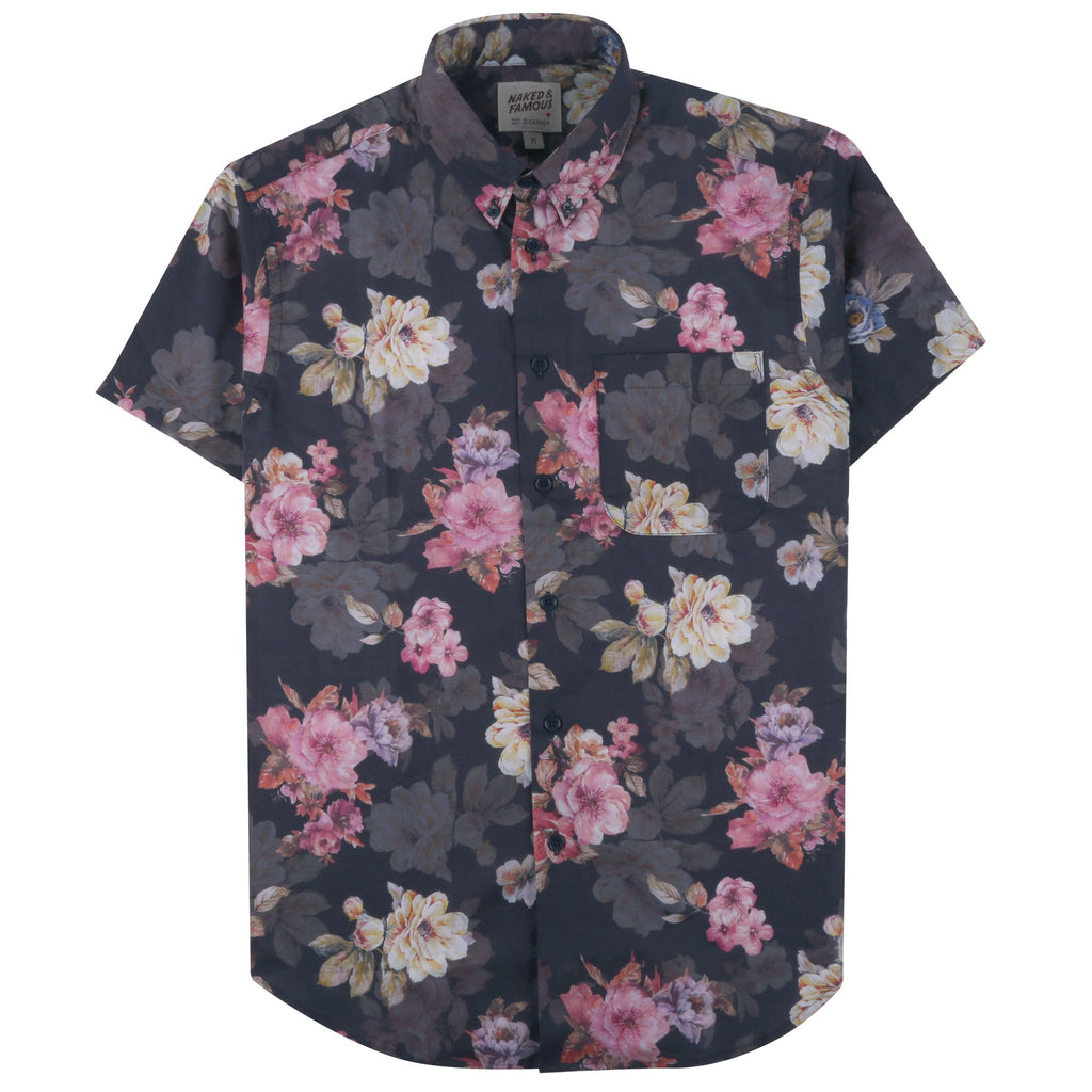 Short Sleeve Easy Shirt - Flower Painting | Naked & Famous Denim