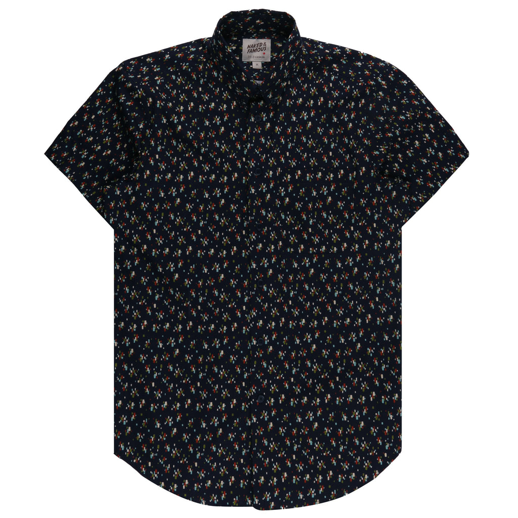 Short Sleeve Easy Shirt - Vintage Mod Print | Naked & Famous Denim