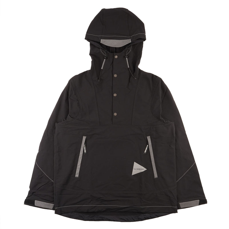 AndWander Nylon Double Cloth Hoodie - Black - front
