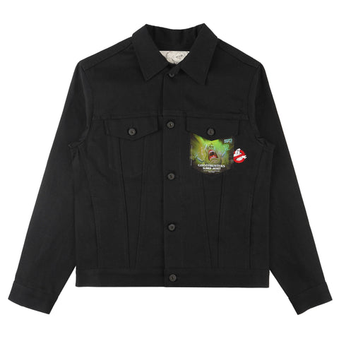 Denim Jacket - Ghostbusters Slimer Jacket - front