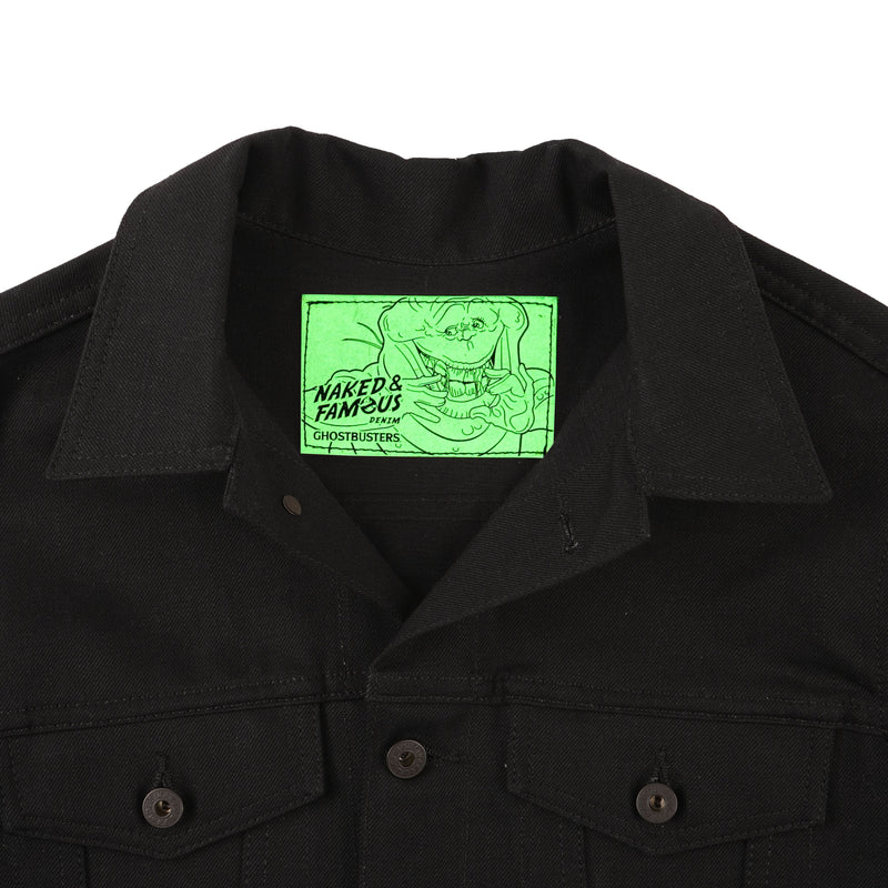 Ghostbusters Slimer Jacket - glow in the dark patch