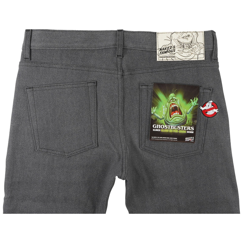 Super Guy - Ghostbusters Slimer Glow In The Dark Denim - back