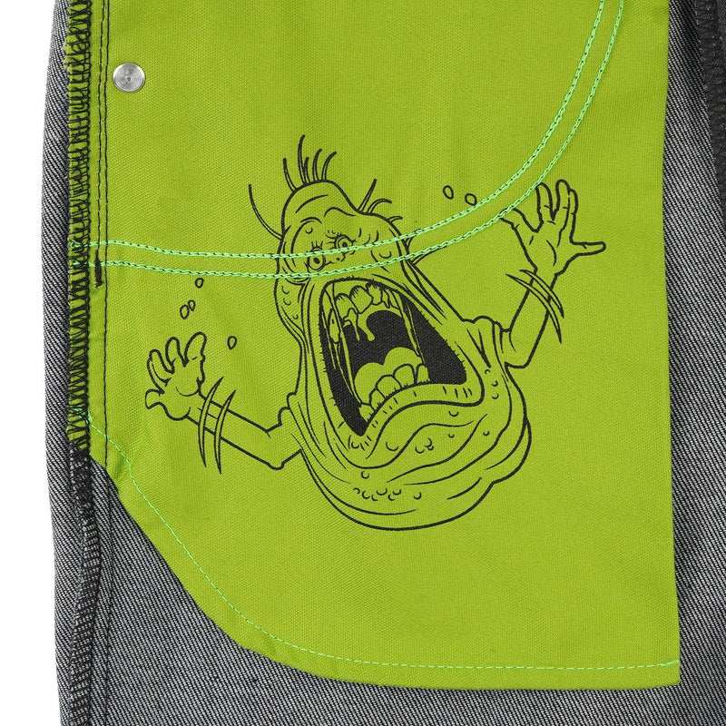 Super Guy - Ghostbusters Slimer Glow In The Dark Denim - pocket bag