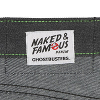 Weird Guy - Ghostbusters Slimer Glow In The Dark Denim - tag