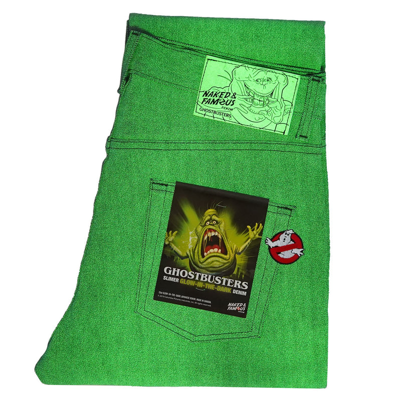 Weird Guy - Ghostbusters Slimer Glow In The Dark Denim - glow in the dark