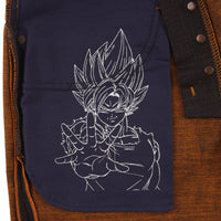 Goku Super Saiyan Selvedge Jeans - pocket bag