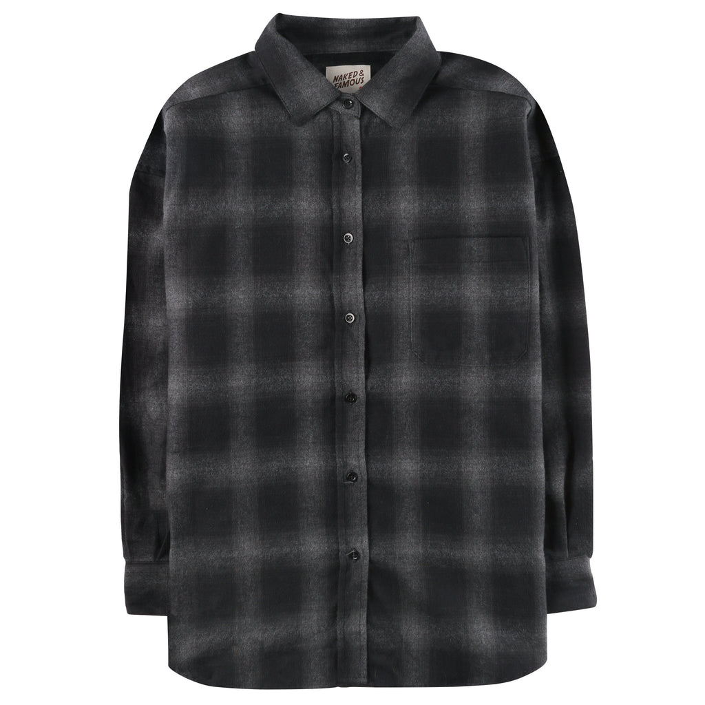 Women's - Easy Shirt - Brushed Ombre Flannel - Grey
