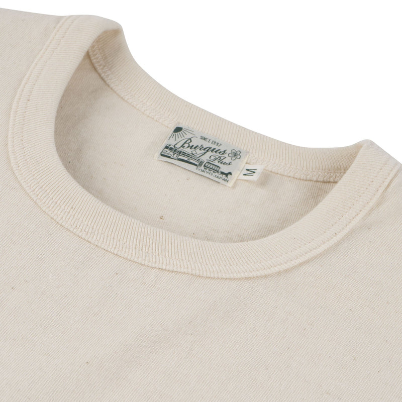 Burgus Plus - S/S Pocket Tee - Natural - collar