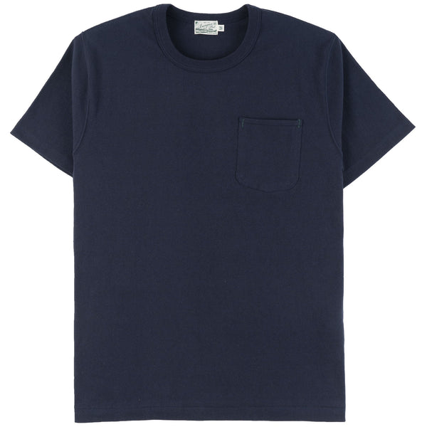 Burgus Plus - S/S Pocket Tee - Navy - front