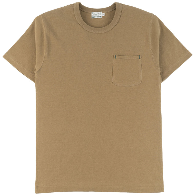 Burgus Plus - S/S Pocket Tee - Khaki - front