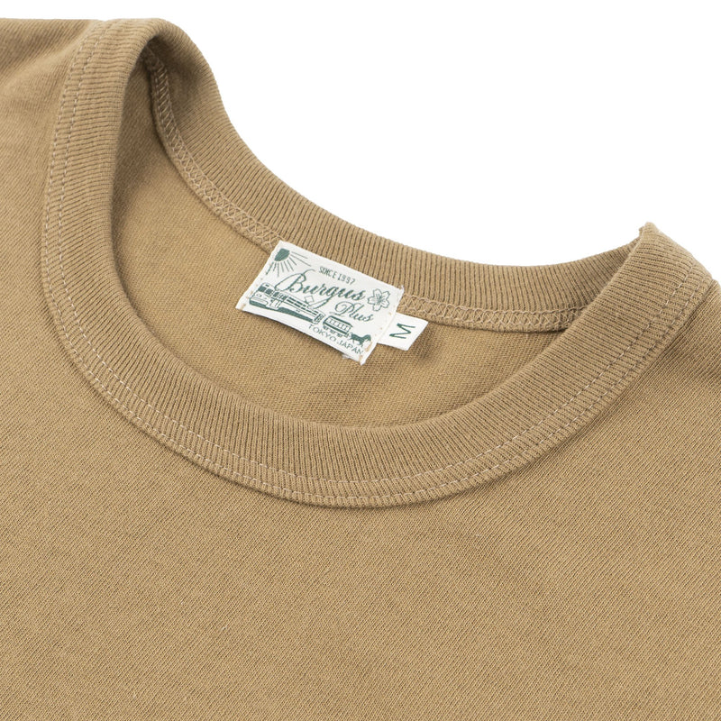 Burgus Plus - S/S Pocket Tee - Khaki - collar
