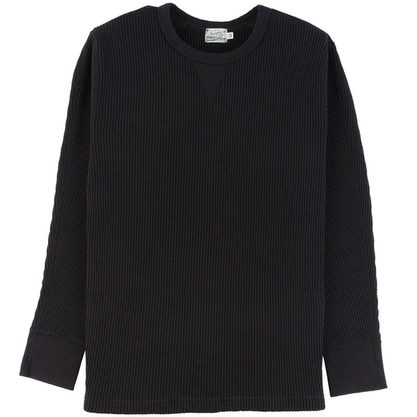 Burgus Plus - L/S Waffle Tee - Charcoal - front