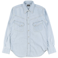 Burgus Plus - Long Horn Type Denim Western Shirt - Lt Used - FRONT