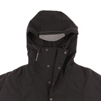 AndWander Nylon Double Cloth Hoodie - Black - collar