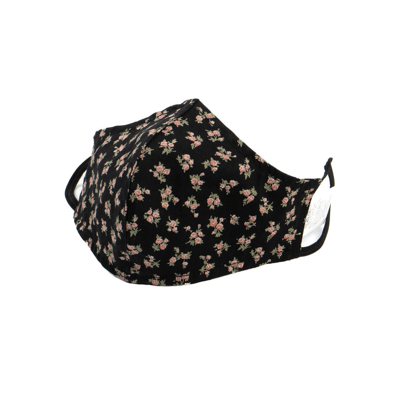 Protection Face Mask - Black Floral