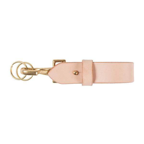 Leather Belt Key Hook - Natural Tan | Naked & Famous Denim