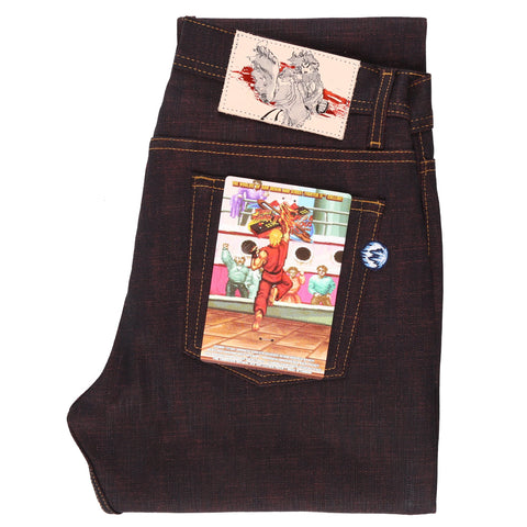 Street Fighter 2 x Naked & Famous Denim Ken Shoryuken Selvedge