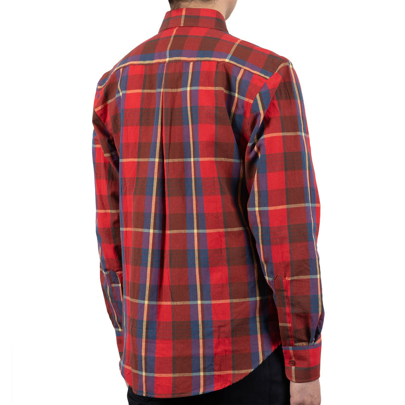 Easy Shirt - Summer Madras - Red - back shot