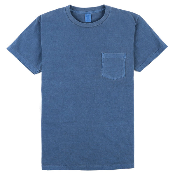Pigment Dyed Pocket Tee - Blue