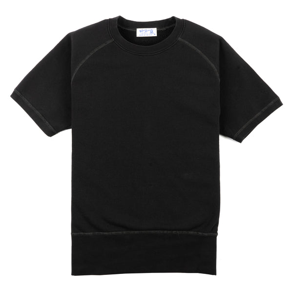 Pigment Dyed S/S Freedom Sweat - Black