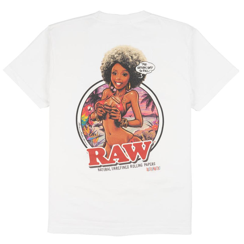 Raw Girl Series 2 SS Pocket T-Shirt - White