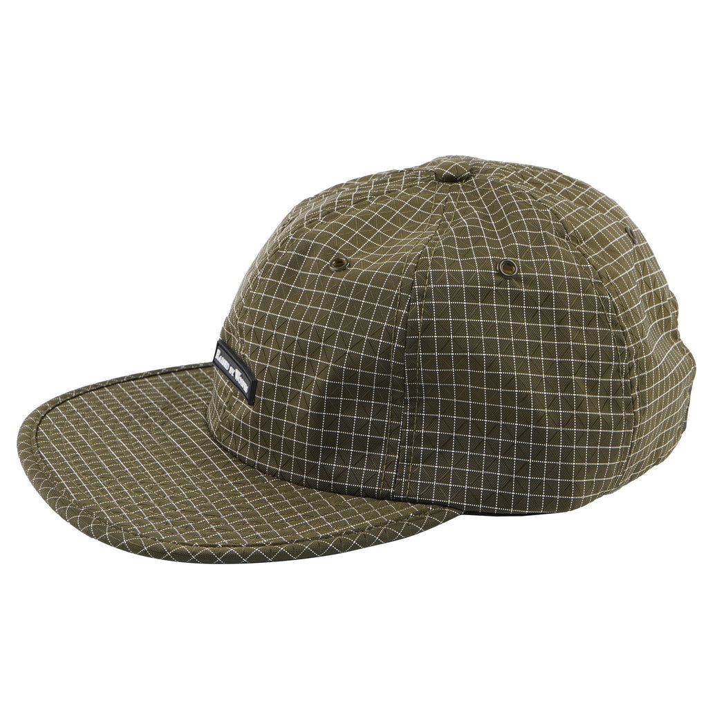 Gridstop 6 Panel Cap - Dark Olive - MAIN