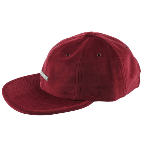 Velvet 6 Panel Cap - Wine - MAIN