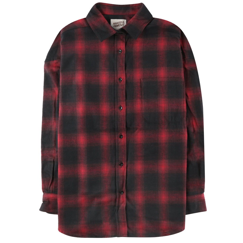 Women's - Easy Shirt - Brushed Ombre Flannel - Red