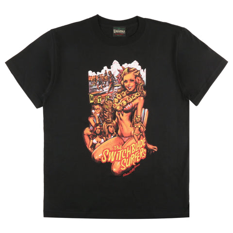 "SBST-01 - ""The Switchblade Surfers"" T-Shirt - Black"